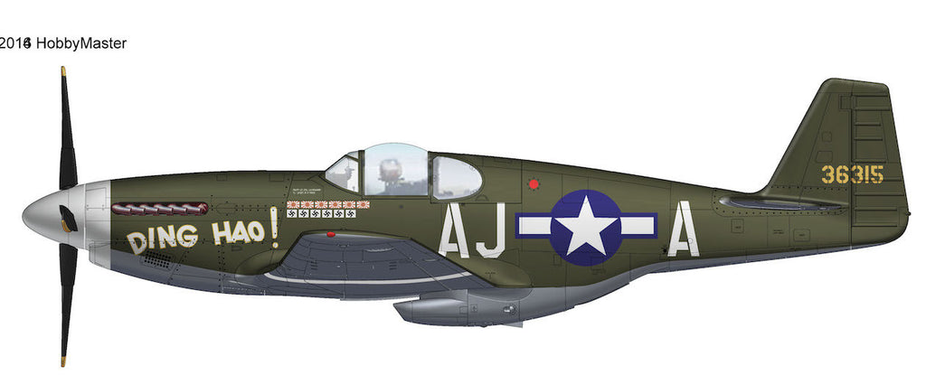 "HOBBYMASTER HA8508 1/48 P-51 P-51B Mustang 43-6315 ""Ding Hao"" 487th FS 354th FG 9th AF Great Britain May 1944 WWII Military Propeller"