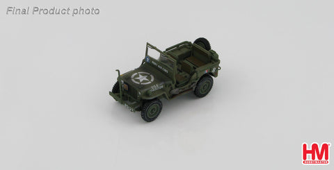 "HOBBYMASTER HG1609 1/48 US Willys Jeep ""MORT AUX CONS"" 2nd French armored of the LECLERC Marechal Diecast Military Car"