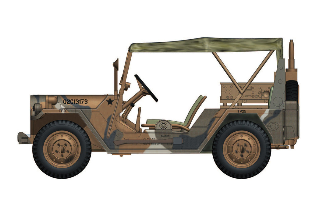 "HOBBYMASTER HG1904 1/48 M151A2 Ford MUTT 3rd Armoured Division US Army ""CONVOY FOLLOWS"" Military Car"