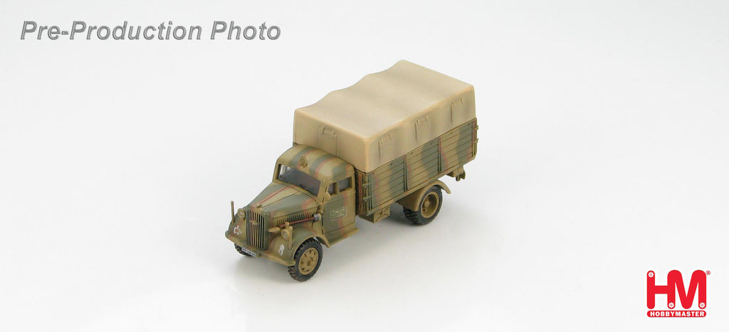HOBBYMASTER HG3912 1/72 German Cargo Truck 8th Gebirgsjager Division Bologna Italy Spring 1945 Military Ground Car