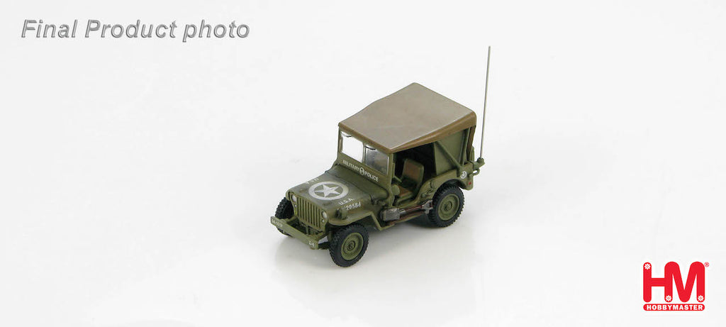 HOBBYMASTER HG4212 1/72 Willys Jeep MB USA 20220584 Military Police WWII Diecast Car