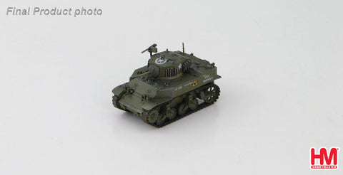 "HOBBYMASTER HG4908 1/72 US M5A1 Stuart ""Mickey Georgiana"" Unknown unit Normandy France 1944 Military Ground Vehicles Tank Diecast"
