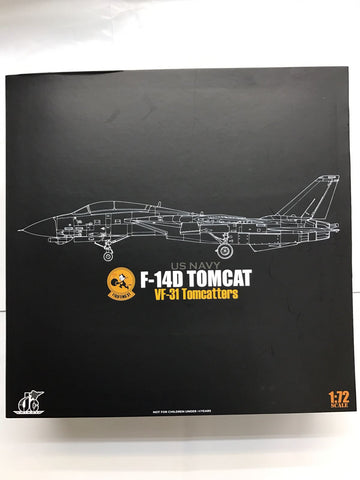 JC Wings 72-F14-001 1/72 F-14 F-14D Tomcat VF-31 Tomcatters CVW14 US Navy Jet Diecast Military Aircraft Model