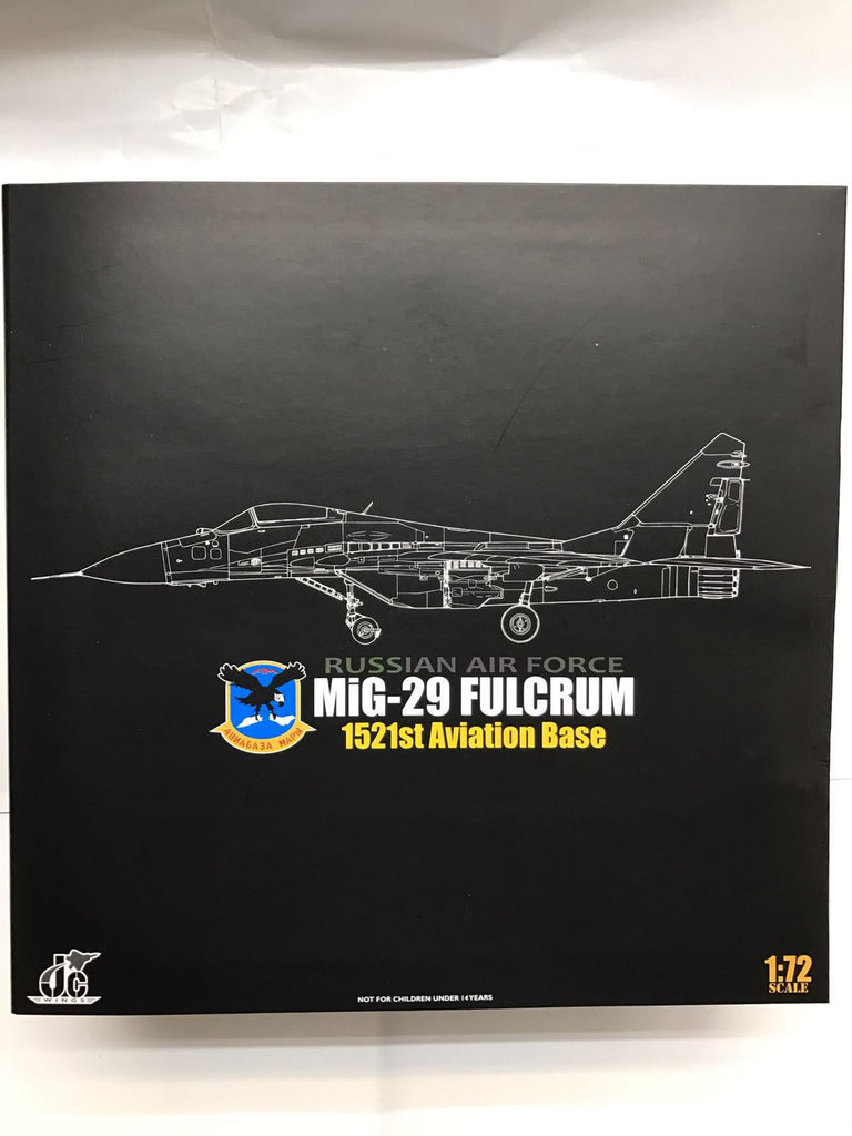 JC Wings 72-MG29-001 1/72 MiG-29 Fulcrum 2nd Sqn.1521s AB1991 Aviation Base Russian Air Force Jet Diecast Military Aircraft Model