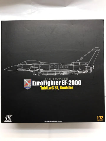 JC Wings 72-2000-001 1/72 Euro Fighter EF-2000 Typhoon S Luftwaffe Jet Diecast Military Aircraft Model
