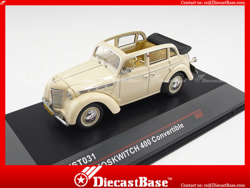 IST Models IST031 1/43 Moskwitch 400 Convertible 1949 Beige U.S.S.R. 1:43 Scale Diecast Model Road Car
