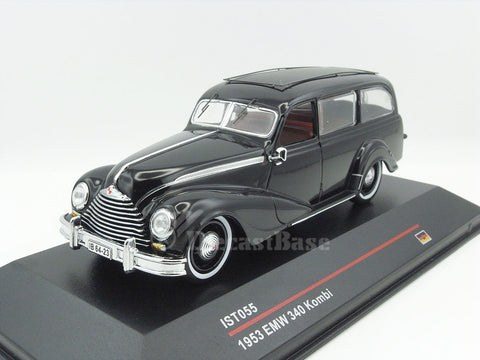 IST IST055 1/43 EMW 340 Kombi 1953 Black Diecast Model Road Car