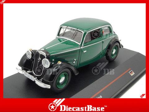 IST Models IST059 1/43 IFA F8 Limousine 1949 Green & Black Germany Democratic Republic Scale Diecast Model Road Car