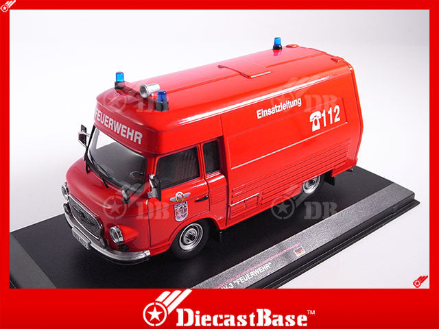 "IST Models IST169T 1/43 Barkas B1000 SMH-3 ""Feuerwehr"" 1984 Salzwedel Germany Democratic Republic Emergency Car Diecast Model Road Car"