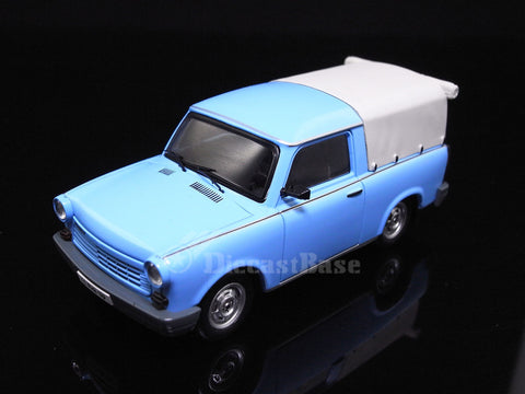 IST Models IST179A 1/43 Trabant 1.1 Pick-Up Closed 1990 Light Blue Germany Democratic Republic Diecast Model Road Car Truck