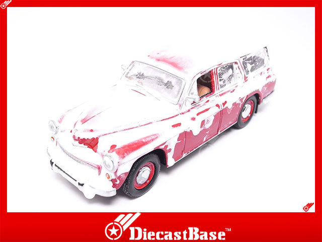 IST Models IST186 1/43 Warszawa 203 Kombi 1960 Snow Covered Red People's Republic of Poland Scale Diecast Model Road Car