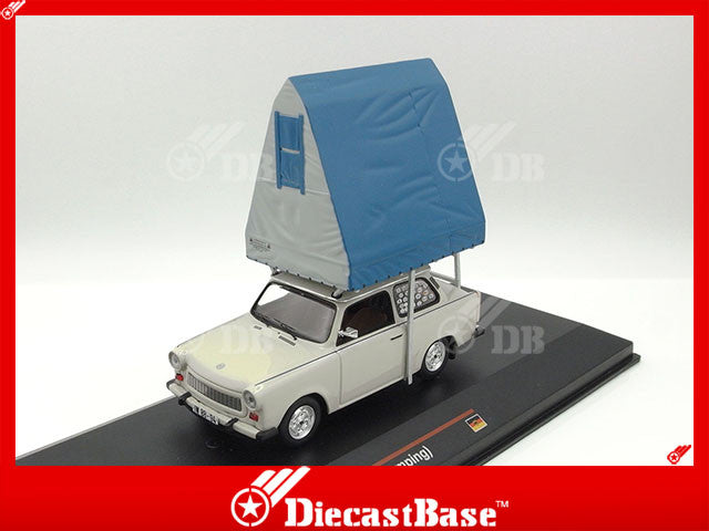 IST Models IST188 1/43 Trabant 601S Limousine (Camping) 1980 Light Grey Germany Democratic Republic 1:43 Scale Diecast Model Road Car Truck