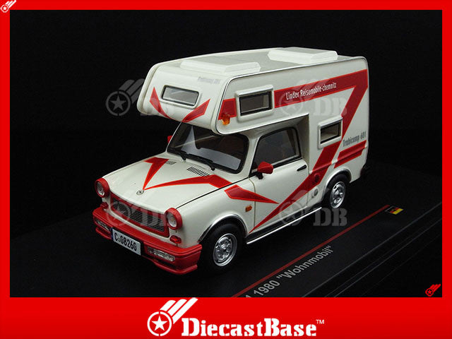 "IST Models IST189R 1/43 Trabant 601 ""Wohnmobil"" 1980 White Germany Democratic Republic 1:43 Scale Diecast Model Road Car Truck"