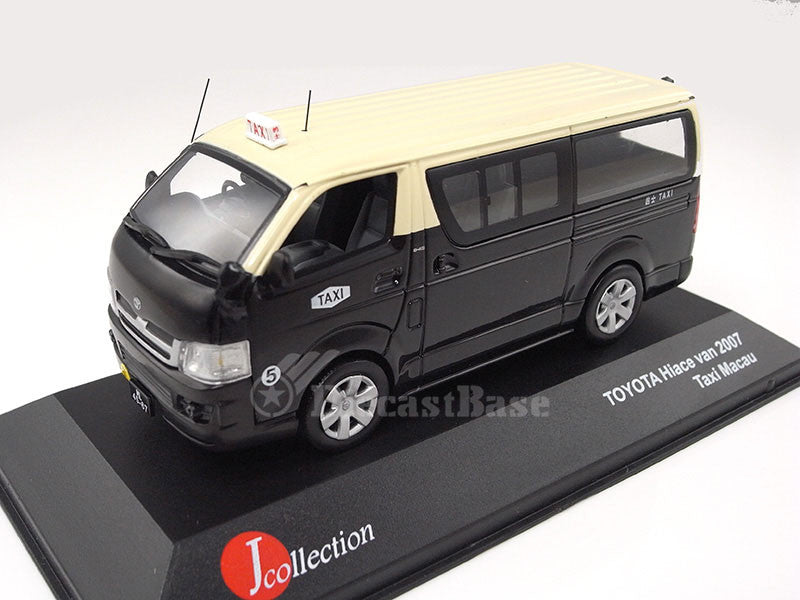 J-Collection JC091 1/43 Toyota HiAce Van Macau Taxi 2007 Diecast Japanese Model Road Car