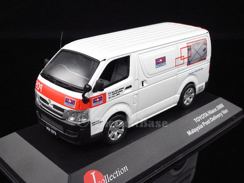 J-Collection JC171 1/43 Toyota HiAce Malaysia Post Delivery Van Diecast Japanese Model Road Car