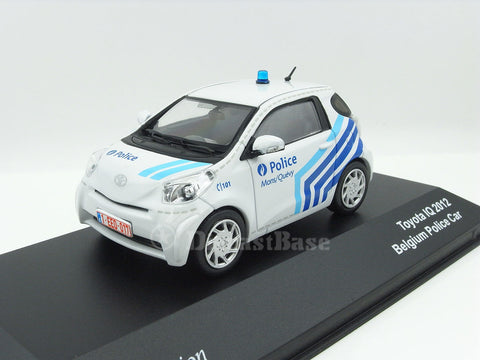 J Collection JC181 1/43 Toyota iQ 2012 Belgium Police Diecast Model Road Car