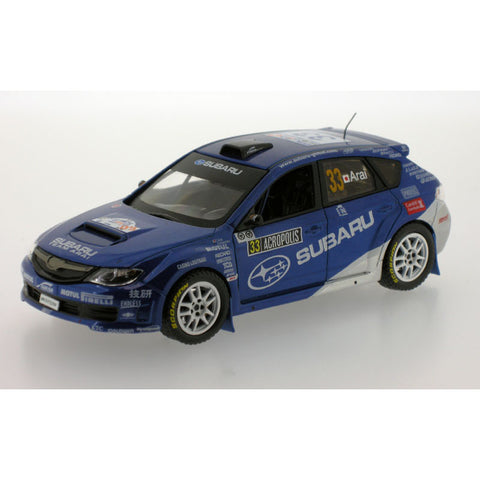 J Collection JC195 1/43 Subaru Impreza WRX STi Group N #33 10th Acropolis - Rally of Greece 3rd PWRC 2009 Subaru Team Arai - Toshihiro Arai - Glenn MacNeall Diecast Model Racing Car