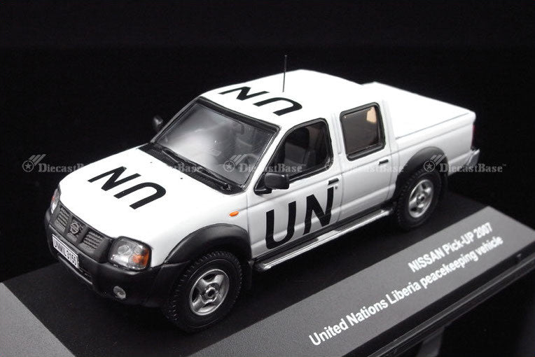 J Collection JC197 1/43 Nissan Pick Up 2007 UN United Nations Liberia peacekeeping vehicle Diecast Model Road Car