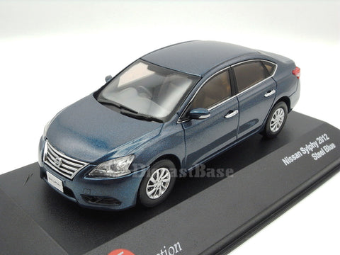 J-Collection JC254 1/43 Nissan Sylphy Steel Blue 2012 Diecast Passenger Japanese Road Car