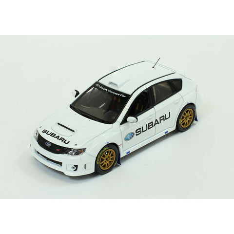 J Collection JC273 1/43 Subaru Impreza WRX STi Group N 2010 Concept Car White Diecast Japanese Model Racing Car
