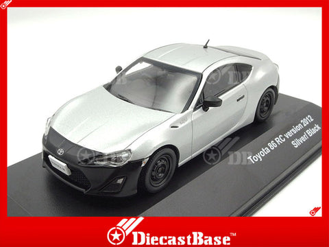 J-Collection JC280 1/43 Toyota 86 RC version 2012 - Silver/ Black Diecast Passenger Japanese Road Car