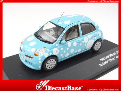 J-Collection JC211 Nissan March Bubble Version Blue Diecast Road Car 1:43