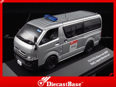 J-Collection JC218 Toyota Hiace van Rally Japan Service Car Diecast Road 1:43