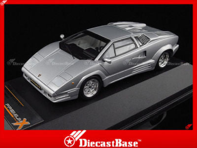 Premium X PR0187 1/43 Lamborghini Countach 25th Anniversary 1989 Silver 1:43 Diecast Model Road Car