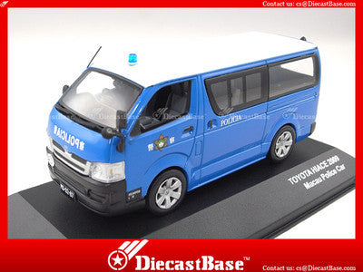 J-Collection JC213 Toyota Hiace 2009 Macau Police car Diecast Emergency 1:43