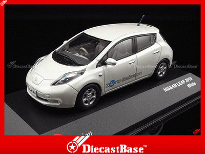 J-Collection JC216 Nissan Leaf 2010 White Diecast Road Car 1:43