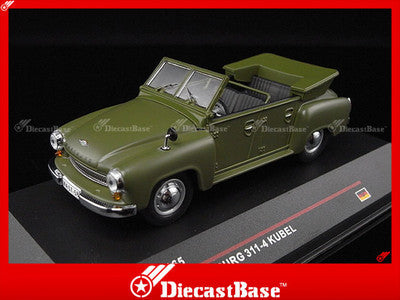 IST Models IST165 1/43 Wartburg 311-4 Kubel Green 1957 Germany Democratic Republic 1:43 Scale Diecast Model Road Car