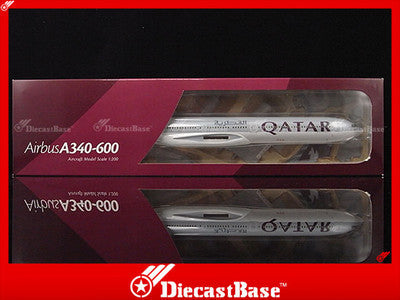 Hogan Wings HG3510G 1/200 Qatar Airways Airbus A340-600 1:200 Commercial Aircraft Snap-fit Plane Model