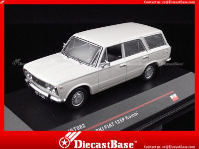 IST Models IST082 1/43 Polski Fiat 125P Kombi Light Grey Poland 1973 1:43 Scale Diecast Model Road Car