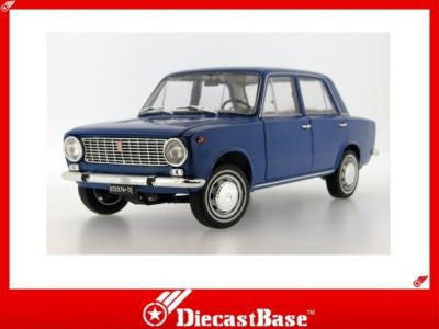 IST Models IST18001FIB 1/18 Fiat 124 Blue Italy 1970 1:18 Scale Diecast Model Road Car