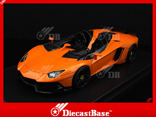 Gorgeous LB228 1/43 Lamborghini Aventador J Metallic Orange Passenger Model Road Car