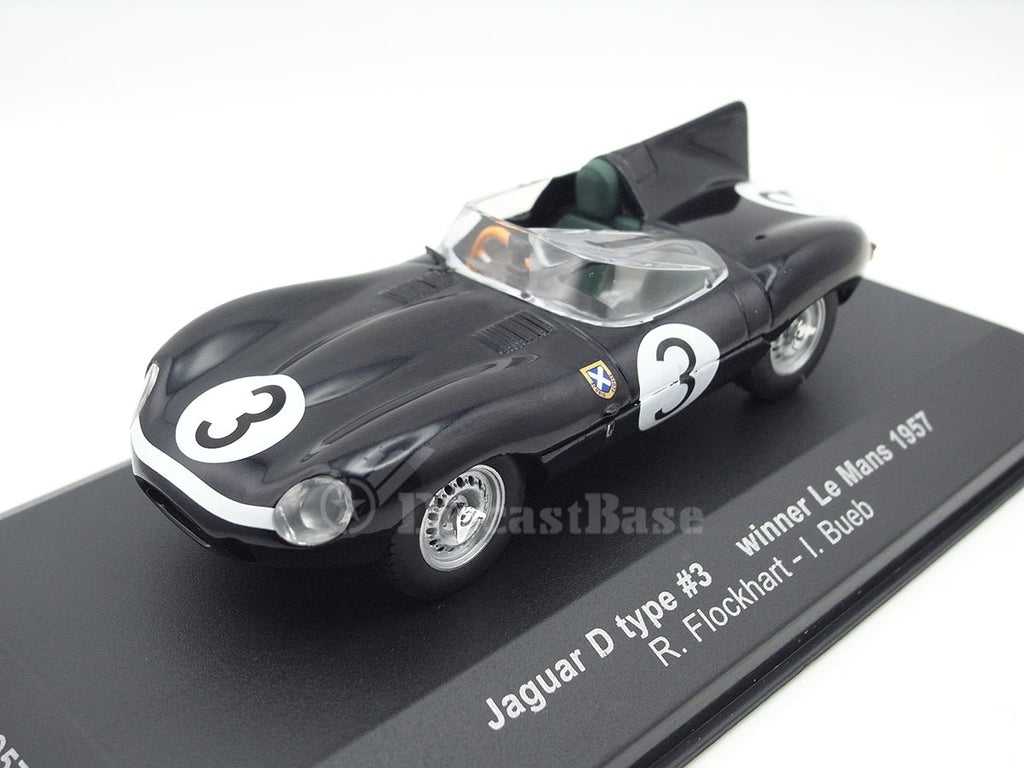 IXO LM1957 1/43 Jaguar D-Type No.3 Winner 24 Hours of Le Mans 1957 S 5000 Class Ecurie Ecosse Team Ron Flockhart - Ivor Bueb IXO Models Diecast Model LM Racing Car