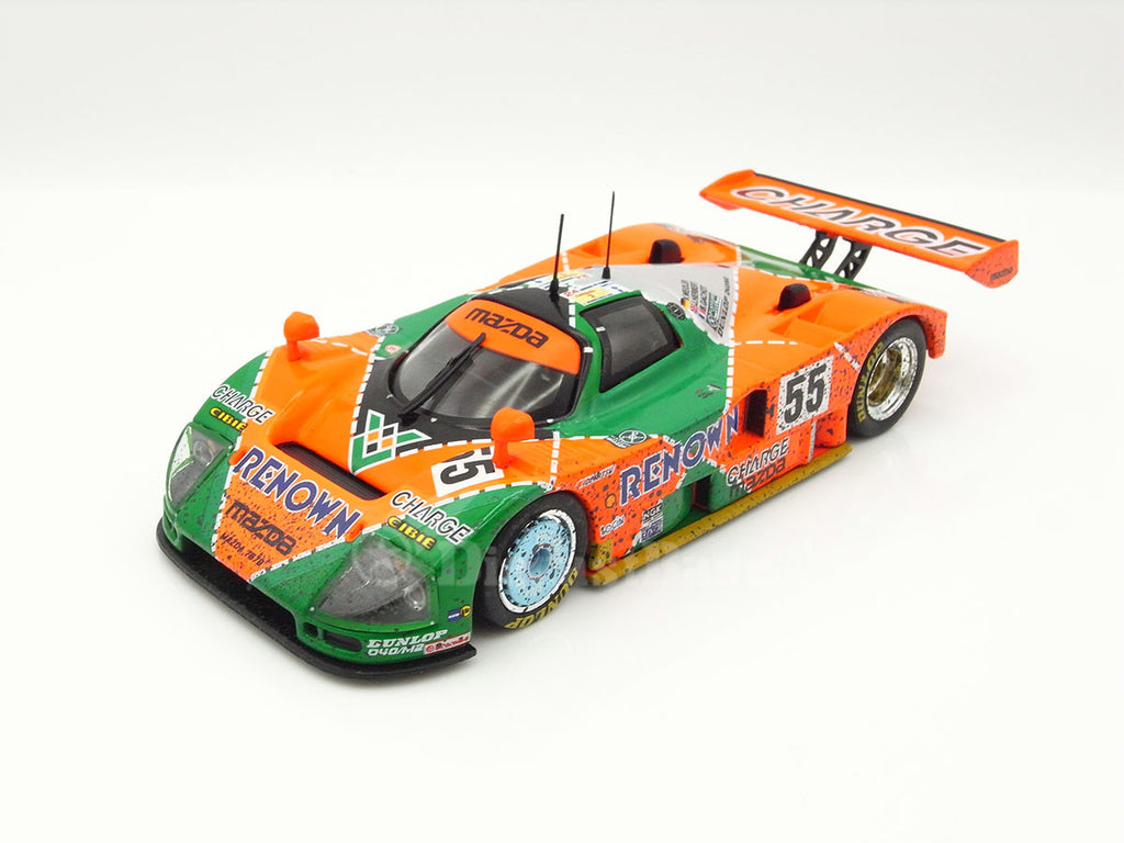 IXO LM1991B 1/43 Mazda 787B #55 Team Mazdaspeed Co. Ltd. Winner Le Mans 1991 Volker Weidler - Johnny Herbert - Bertrand Gachot with dirty effects IXO Models Diecast Model LM Racing Car