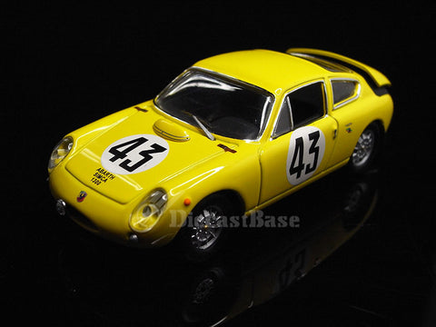 IXO LMC147 1/43 Abarth-Simca 1300 Bialbero No.43 24 Hours of Le Mans 1962 E 1.3 Class Equipe Nationale Belge Team Claude Dubois - Georges Harris IXO Models Diecast Model LM Racing Car