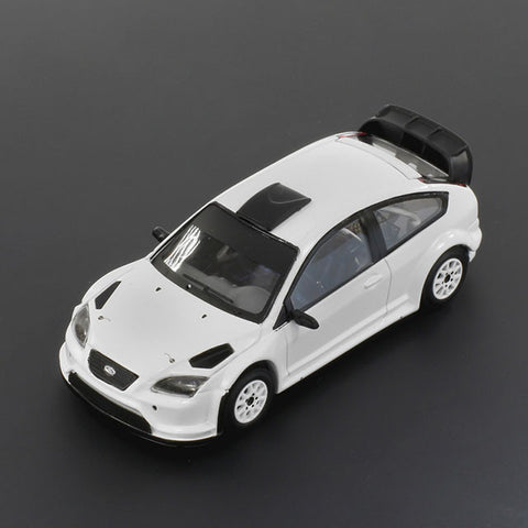 IXO MDCS008 1/43 Ford Focus RS WRC08 2009 Rally Specs (2 Set of Wheels and Tyres) All White Diecast Model Racing Car