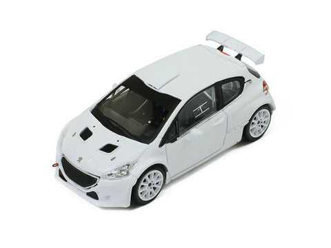 IXO MDCS017 1/43 Peugeot 208 T16 Rally Spec All White (2 set of wheels and tyres) Diecast Model Racing Car
