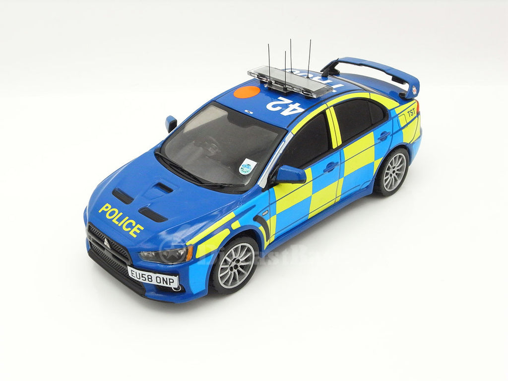 IXO MOC116 1/43 Mitsubishi Lancer Evo X 2008 UK Police Blue IXO Models Diecast Model Modern Road Car