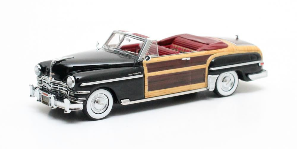Matrix MX20303-042 1/43 Chrysler Town & Country Convertible Black 1949 Matrix Scale Models USA Resin Model Road Car