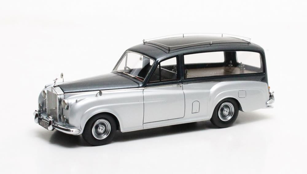 Matrix MX41705-062 1/43 Rolls-Royce Silver Cloud Simpson & Slater Hearse Silver 1957 Matrix Scale Models Exclusive Resin Model Road Car