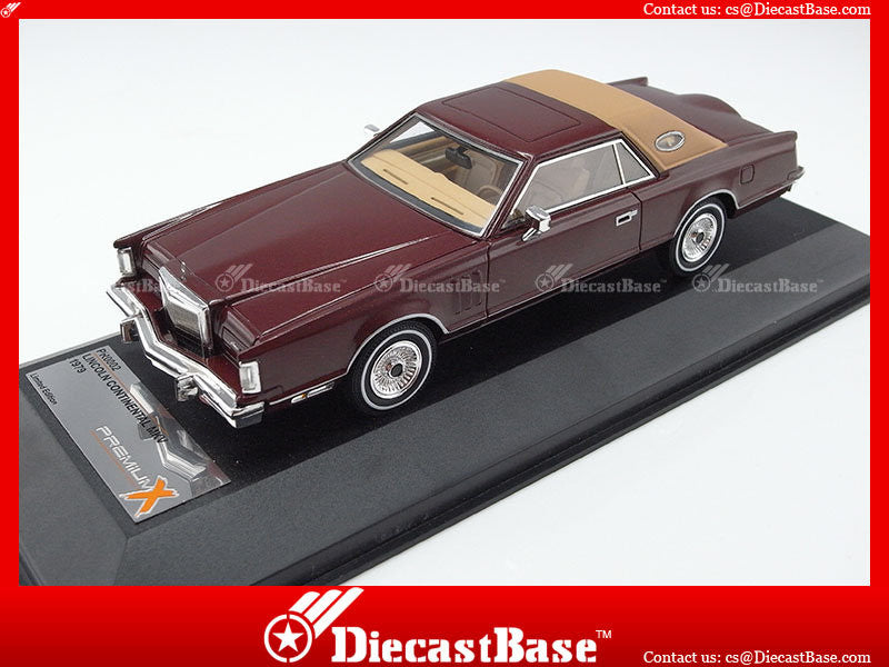 Premium X PR0002 1/43 Lincoln Continental MK V 1979 Mettalic Brown 1:43 Diecast Model Road Car