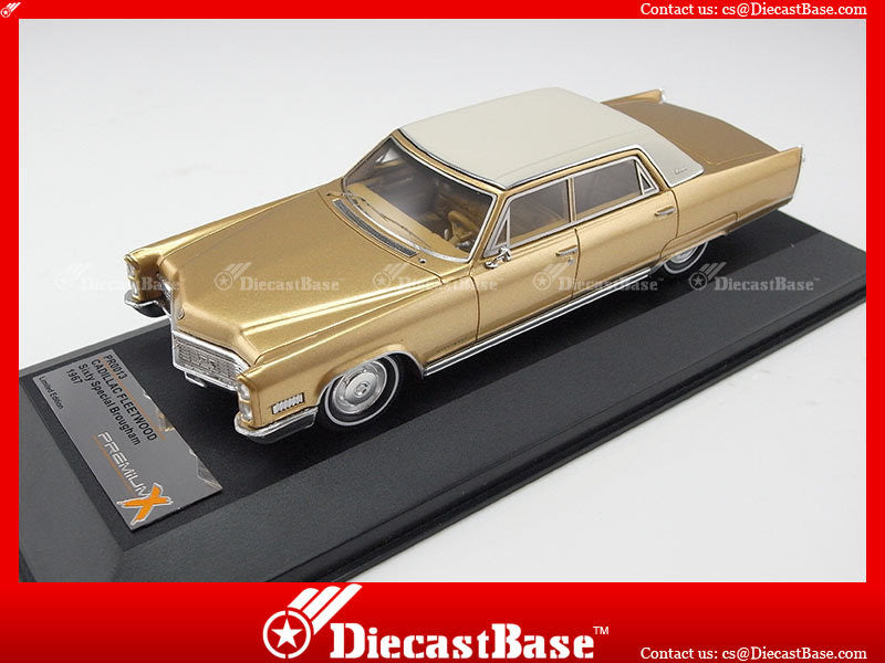 Premium X PR0013 1/43 Cadillac FLEETWOOD SIXTY SPECIAL Brougham 1967 Champagne 1:43 Diecast Model Road Car