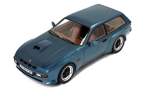 "Premium X PR18001 1/18 Porsche 924 Turbo Kombi ""Artz"" 1981 Dark Blue Diecast Model Road Car"