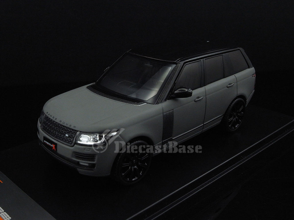 Premium X PRD409 1/43 Land Rover Range Rover 2013 Grey Matt with Carbon Pack Diecast Model Road Car SUV