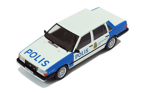 Premium X PRD439 1/43 Volvo 740 Stockholm Police 1985 Diecast Emergency Model Road Car