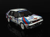 IXO RAC120 1/43 Lancia Delta HF 4WD No.4 Martini Lancia Team Winner Lombard RAC Rally 1987 (World Champion) Juha Kankkunen - Juha Piironen IXO Models Diecast Model Rally Racing Car