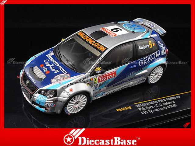 IXO RAM389 1/43 Volkswagen Polo S2000 No.9 Cokelaere-Snijers IRC Ypres Rally 2009 1:43 Diecast Model Racing Car